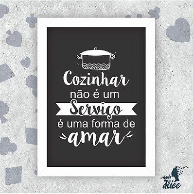 Quadro COZINHAR É AMAR - by Sabrina Matias