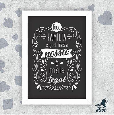 Quadro FAMÍLIA - by Sabrina Matias