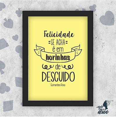 Quadro FELICIDADE - by Sabrina Matias