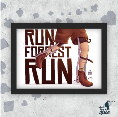 Quadro RUN FORREST - by Ismael Martinez