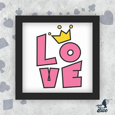 Quadro LOVE ROSA - Fundo Branco