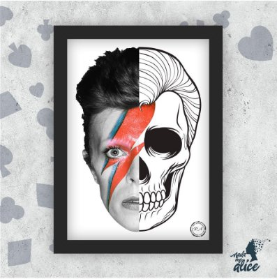 Quadro DAVID BOWIE - by Rafael Amorim