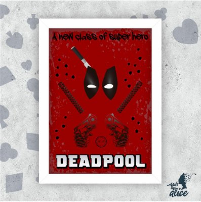 Quadro DEADPOOL- by Rafael Amorim