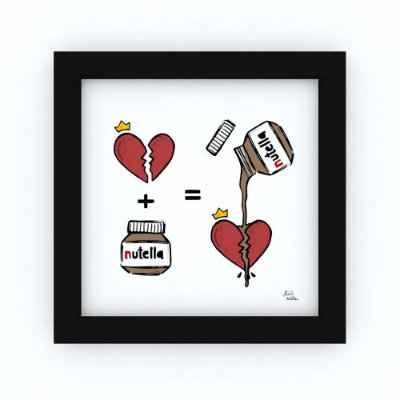 Quadro MAIS NUTELLA - by Life on a Draw