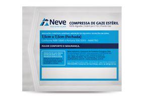 Compressa de Gaze 7,5X7,5cm 13 Fios Esteril Pct c/10 NEVE