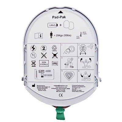 Cartucho PadPak (Eletrodos com Bateria) Adulto HeartSine - Samaritan