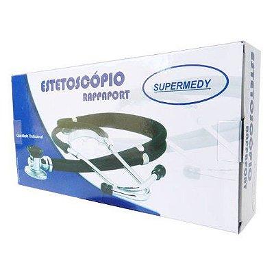 Estetoscópio Rappaporte Preto - Supermedy