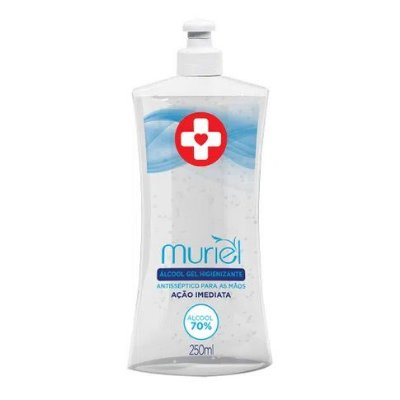 Álcool Em Gel  Antisséptico 250 ml Muriel Neutro