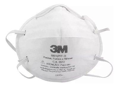 Máscara PFF2/N95 Respirador Hospitalar Pacote C/20 unidades 3M 8801