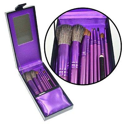 Estojo Luxo MA-50 C/ 10 Pincéis Para Maquiagem Importado