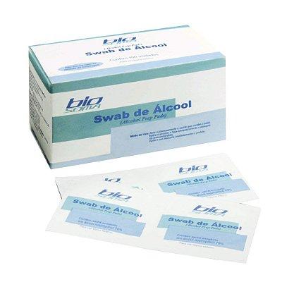Swab de Alcool Caixa c/100 Envelopes - BIOSOMA