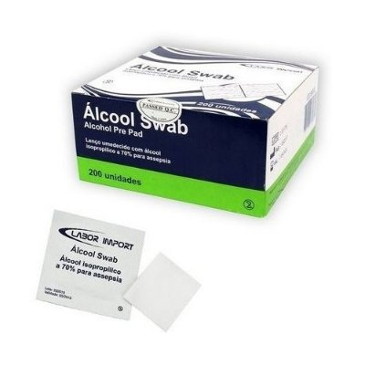Alcool Swab 70% c/200 - LABOR IMPORT