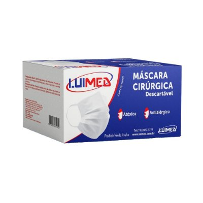 Máscara Cirúrgica Descartável C/50 Unidades - LUIMED