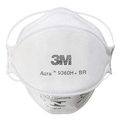 Máscara 3M AURA Resistente a Fluído 9360H PFF-2 ANVISA e Inmetro