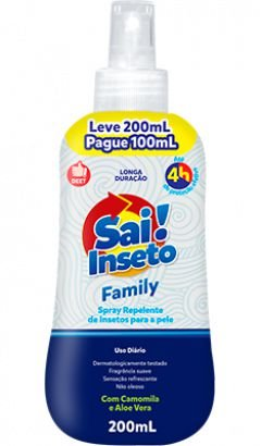 Repelente Sai Inseto Family 4H - Nutriex
