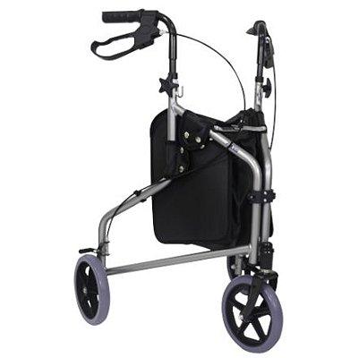 Andador 03 rodas dobrável em alumínio - PRAXIS