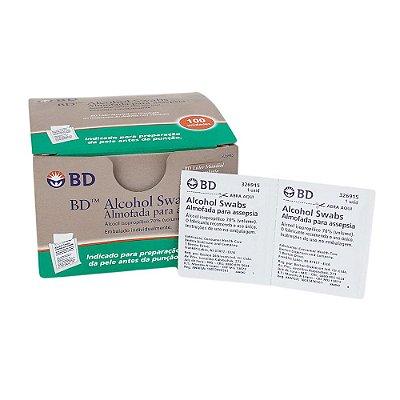 Alcool Pads Swab Lenço 70% c/100 - BD