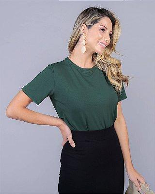 Tee Mari malha visco verde musgo