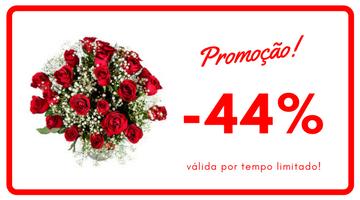 Buquê 2 dúzias rosas vermelhas