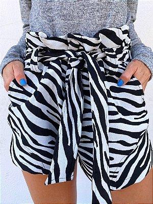Shorts Leona Zebrado