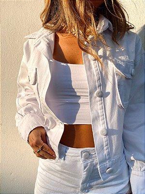 Jaqueta Sarja Over Branca