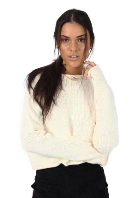 Cropped Tricot Natural