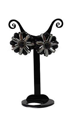 Brinco Black Flower