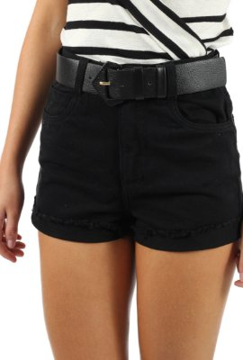 Shorts Mom Sarja Preto