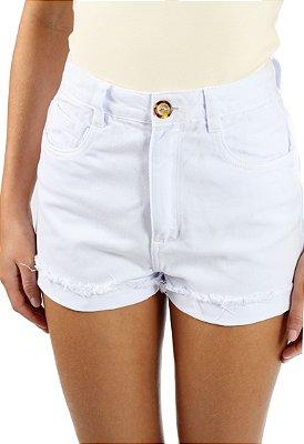 Shorts Mom Sarja Branco