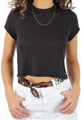 Camiseta Cropped Forever Preto