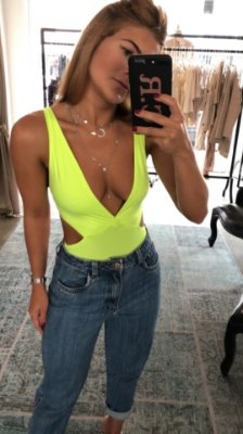Body Gigi Amarelo Neon