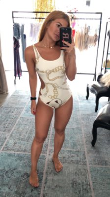 Body Maio Argola Versace