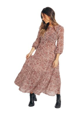 Vestido Midi Onça