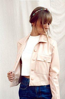 Couro Jacket Mini Rosa