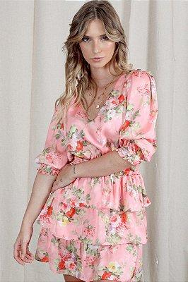 Vestido Lívia Floral Rosa