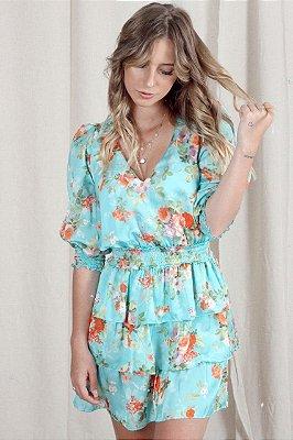 Vestido Lívia Floral Azul