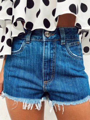 Shorts Hot Double Denim Vintage