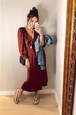 Vestido Ariella Ferrugem