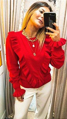 Blusa Ret. Babadeira Lya Vermelha