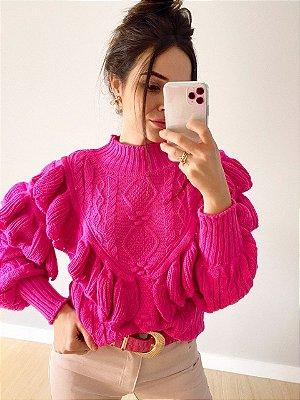 Maxi Tricot Babadeira Juju Pink