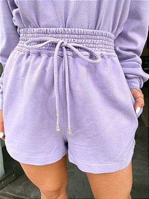 Shorts Moletom Stone Lilac