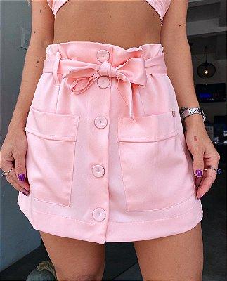 Shorts Saia Larissa Rosa Candy