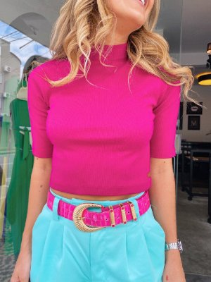 Cropped Barbie Hot Pink