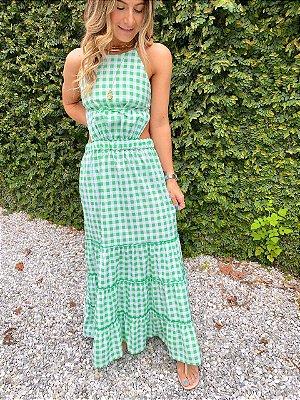 Vestido Vichy Verde