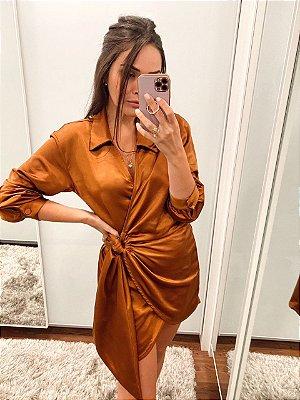 Vestido Veronica Terracota