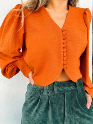 Camisa Cropped Bottons Especiaria