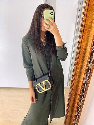 Vestido Camisa Luciana Verde