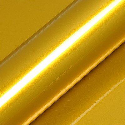 "Adesivo para Envelopamento Automotivo Alto Brilho Metálico Cor ""Imperial Yellow Gloss"" Kit Carro Completo"