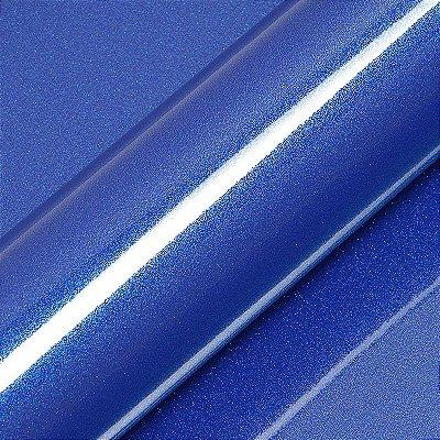 "Adesivo para Envelopamento Automotivo Alto Brilho Glitter Cor ""Bleu de France"" Kit Carro Completo"