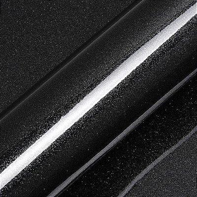 "Adesivo para Envelopamento Automotivo Alto Brilho Glitter Cor ""Catechu Black Gloss"" Kit Carro Completo"